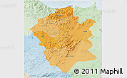 Political Shades 3D Map of Centre Nord, lighten