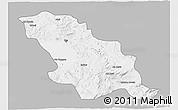 Gray 3D Map of Fes, single color outside