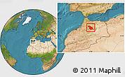 Satellite Location Map of Fes