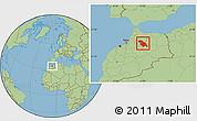 Savanna Style Location Map of Fes