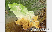 Physical Map of Fes, darken