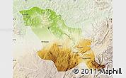 Physical Map of Fes, lighten