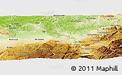 Physical Panoramic Map of Fes