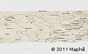 Shaded Relief Panoramic Map of Fes