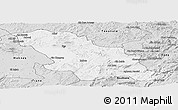 Silver Style Panoramic Map of Fes