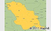 Savanna Style Simple Map of Fes