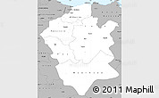 Gray Simple Map of Centre Nord