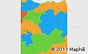 Political Simple Map of Centre Nord