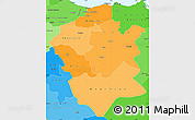 Political Shades Simple Map of Centre Nord
