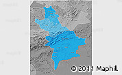 Political Shades 3D Map of Centre Sud, desaturated
