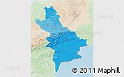 Political Shades 3D Map of Centre Sud, lighten