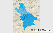 Political Shades 3D Map of Centre Sud, shaded relief outside