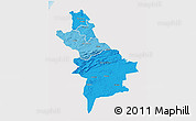 Political Shades 3D Map of Centre Sud, single color outside