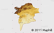 Physical Map of Errachidia, cropped outside
