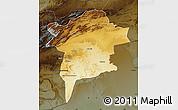 Physical Map of Errachidia, darken