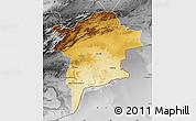 Physical Map of Errachidia, desaturated