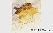 Physical Map of Errachidia, lighten
