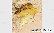 Physical Map of Errachidia, satellite outside