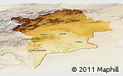 Physical Panoramic Map of Errachidia, lighten