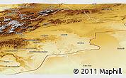 Physical Panoramic Map of Errachidia