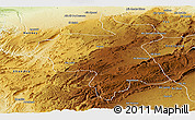 Physical Panoramic Map of Ifrane