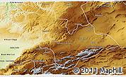 Physical 3D Map of Khenifra
