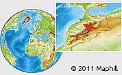 Physical Location Map of Khenifra