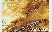 Physical Map of Khenifra