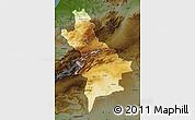 Physical Map of Centre Sud, darken