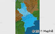 Political Shades Map of Centre Sud, darken