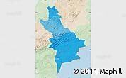 Political Shades Map of Centre Sud, lighten