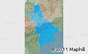 Political Shades Map of Centre Sud, semi-desaturated