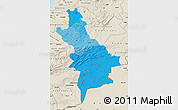 Political Shades Map of Centre Sud, shaded relief outside