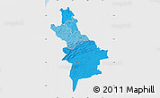 Political Shades Map of Centre Sud, single color outside