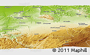 Physical Panoramic Map of Meknes