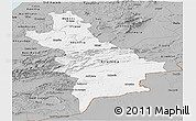 Gray Panoramic Map of Centre Sud