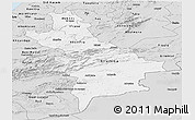 Silver Style Panoramic Map of Centre Sud