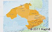 Political Shades 3D Map of Centre, lighten
