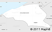 Silver Style Simple Map of Ain Chock