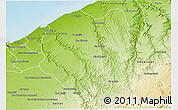 Physical 3D Map of Ben Slimane