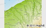 Physical Map of Ben Slimane