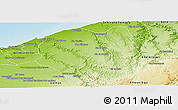 Physical Panoramic Map of Ben Slimane