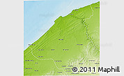 Physical 3D Map of El Jadida