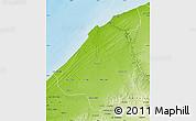Physical Map of El Jadida