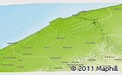 Physical Panoramic Map of El Jadida