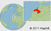 Savanna Style Location Map of Centre