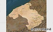 Satellite Map of Centre, darken