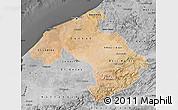 Satellite Map of Centre, desaturated