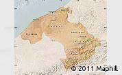 Satellite Map of Centre, lighten