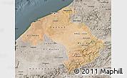 Satellite Map of Centre, semi-desaturated